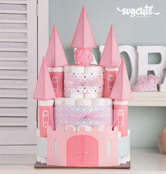 Château de princesse. 25 magnifiques idées de gâteaux de couches DIY