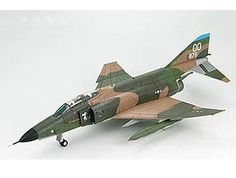 Hobbymaster 1:72 McDonnell Douglas F-4C Diecast Model Airplane HA1955 McDonnell Douglas F-4C Phantom 65-876 Diecast Model Airplane. It is made by Hobbymaster and is 1:72 scale (approx. 16cm / 6.3in wingspan).  The F-4 Phantom II first entered US Military service in 1960. It was designed as a fleet defense fighter for the US Navy but by 1963 it was adopted as the US Air Force primary fighter-bomber. Despite the size and weight of this Cold War icon the F-4 broke 15 world records and…