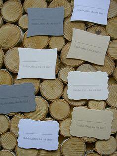Hochzeitsdeko - ❤️ 10 Tischkarten Hochzeit Platzkarten  - ein Designerstück von Okie-dokie bei DaWanda