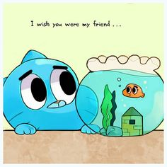 Amazing World Of Gumball!!. Before the amazing it was a cat and a gold fish