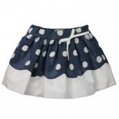 Polka Scalloped Hem Skirt - notsobig