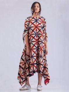 Red Indigo Organic Cotton Aurora Dress