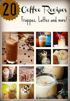 20 Amazing Coffee Recipes - Frappes, Lattes and more from www.poofycheeks.com