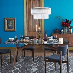 Love this Table!!! Mid-Century wood/glass. Jensen Dining Table #westelm
