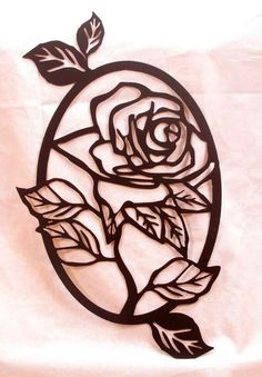 Rose Oval Wall Art by BCMetalCraft on Etsy