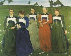 Cuno Amiet 1868 1961  ( peintre Suisse )  Evening wealt