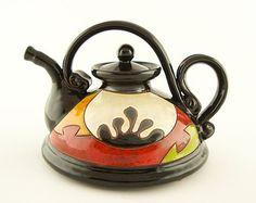 Colorful teapot, ceramic teapots, pottery teapot, ceramic tea set ceramic teapot ceramics and pottery flower teapot handmade teapot