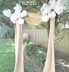 Burlap Wedding Arch - Burlap Projects