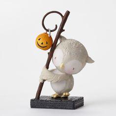 Enesco Halloween Stacy Yacula Owl with Pumpkin Figurine 4.25-Inch