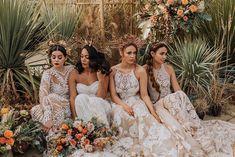 A Bold Luscious Bridal Styled Shoot with Rue De Seine Dresses Bohemian Wedding Dresses, Boho Bride, Designer Wedding Dresses, Lace Wedding, Beautiful Black Dresses, Beautiful Bride, Festival Dress, Bridal Shoot, Bridal Style