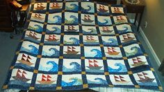 Scott's Ships quilt finished