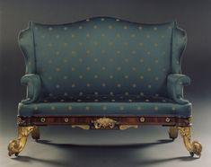 AN UNUSUAL PAIR OF ROSEWOOD AND GILT BRASS SOFAS.  English. Circa 1830. European Furniture, Retro Furniture, Antique Furniture, Cool Furniture, Antique Armchairs, Antique Sofa, Vintage Sofa, English Country Style, Upholstered Sofa