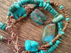 Excited to share the latest addition to my #etsy shop: Turquoise Bracelet, Wrap Bracelet, Multiple Strand Bracelet, Chunky Bracelet, Bohemian Jewelry, Boho Jewelry, Southwest http://etsy.me/2CuJWPC #jewelry #bracelet #gemstone #turquoise #boho #etsycij