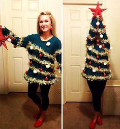 """C'è chi con l'arrivo del Natale decide di eccedere nel look a tema: dal maglione/renna all'addobbo stile albero, dalle luminarie attorcigliate sul corpo alla maglia """"doppia, sono tanti i """"travestimenti"""" eccessivi che sfociano nel kitsch. Ecco qualche esempio di chi durante le f"""