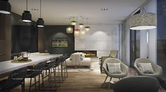 The party room is an extension of your living space that encourages laid back, quality time with friends, family and your new neighbours. #Party #Events #Interior #Decor #Condo #Toronto