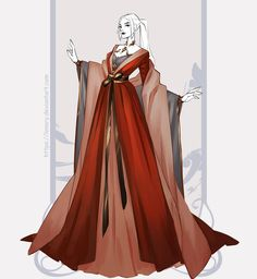 Anime Outfits, Dress Outfits, Beautiful Gowns, Beautiful Outfits, Anime Dress, Fashion Design Drawings, Fantasy Dress, Drawing Clothes, Character Outfits