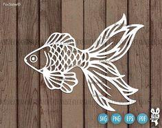 Sea Clipart, Fish Clipart, Fish Stencil, Stencil Art, Butterfly Stencil, Vinyl Paper, Paper Art, Cadre Design, 3d Cuts
