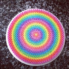 Rainbow design hama beads by liinutar