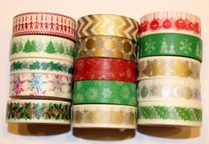 Washi Tape Christmas 10 m Roll Decorative Sticky Paper Masking Tape Adhesive | eBay