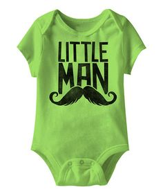 Another great find on #zulily! Key Lime 'Little Man' Bodysuit - Infant #zulilyfinds