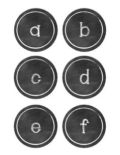 Free Chalkboard Letter and Supply Labels