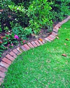 Adding edging to a garden is such a simple project with a huge impact http://www.VintageBricks.com