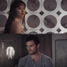 """The scene after Christian comes back from Elena.  (Ana is pregnant in this scene) #FiftyShadesFreed"""