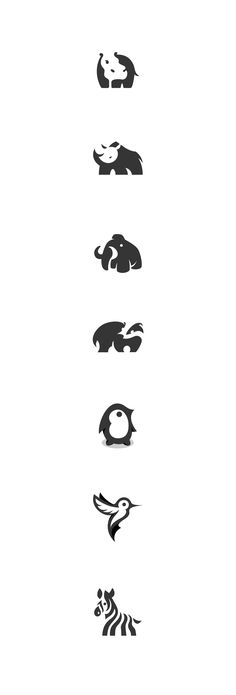 Here are some of my selected negative space animal logo designs. #negative space…