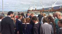 The Duke of Kent meets children from the local national school in Fenit (Pic: RNLI)