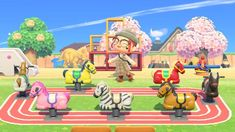 and they're off! : AnimalCrossing Animal Crossing Wild World, Animal Crossing Game, Motif Acnl, Motifs Animal, Animal Crossing Qr Codes Clothes, Island Design, Kawaii, New Leaf, My Animal