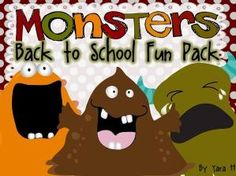Wow! Back to School already! Your class is sure to be fun filled with this monsters pack. 75- pages of literacy and math centers, activities and print-outs. The pack includes math and literacy centers and activities for K-2! $6.00 by dawnereed