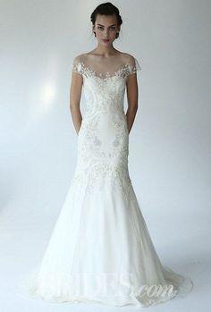 72 Breathtaking Illusion Neckline Wedding Gowns   HappyWedd.com