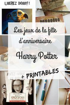 Nos jeux pour l'anniversaire Harry Potter avec fichiers à imprimer #printable #anniversaire #harrypotter