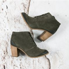 Green ankle boot by TOMS --> https://www.omoda.nl/dames/laarzen/enkellaarsjes/toms/groene-toms-enkellaarsjes-lace-up-botie-70150.html/?utm_source=pinterest&utm_medium=referral&utm_campaign=tomsanklebootpinterest6-9-16&s2m_channel=903