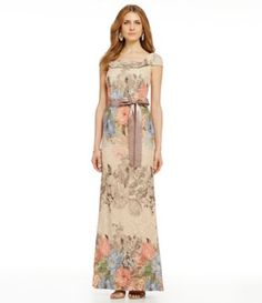 Shop for Adrianna Papell Floral Jacquard Mermaid Gown at Dillards.com. Visit…