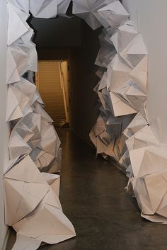 Paper Installation by thewaxgrid, via Flickr