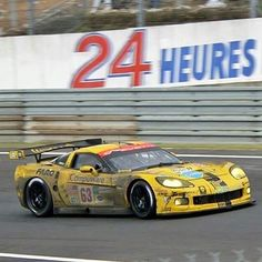 """""""After a close fight in GT1 @ Le Mans in 2008, this Corvette of O'Connell/Magnussen/Fellows would finally finish 2nd in class, behind the winning Aston.…"""""""