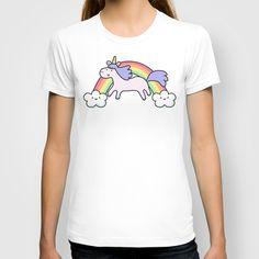 Unicorn+with+Rainbow+T-shirt+by+KiraKiraDoodles+-+$22.00