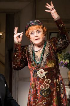 Angela Lansbury as Madame Arcati in Michael Blakemore's production of Blithe Spirit.