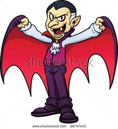 stock vector : Cartoon vampire. Vector illustration with simple gradients. All in a single layer.