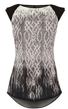 Karen Millen Knit Print T-Shirt... love, love, love... that double sleeve is insane!