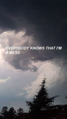 everybody knows that i'm a mess Lana Del Rey Tumblr Quotes, Lyric Quotes, Mood Quotes, Life Quotes, Fille Gangsta, Quote Aesthetic, Wallpaper Quotes, Iphone Wallpaper, Quotations