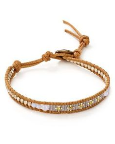 """Chan Luu Beaded Wrap Bracelet 