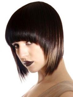 layered hair with bangs