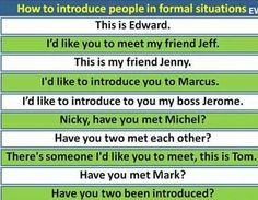 How to introduce people in formal situations