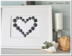 Simple Shell Valentine Art by Sand & Sisal
