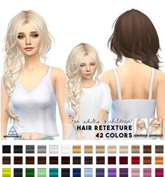Miss Paraply: Hair retexture Maysims 43 • Sims 4 Downloads