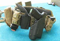 Tactical tan battle belt
