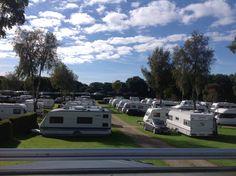 Frigård Camping, Kollund, Danmark. Et kig ud over vores vintercampingplads.