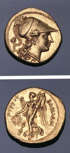 G673 An Excessively Rare and Magnificent Greek Gold Stater of Syracuse (Sicily), Struck by King Pyrrhus of Epirus During his Abortive Sicilian Expedition, Exceptional Depictions of Athena and Nike in Gold | by Ancient Art